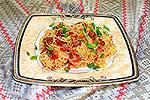 рисовая вермишель с овощами