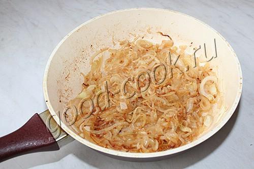 картофель запеченный с жареным луком