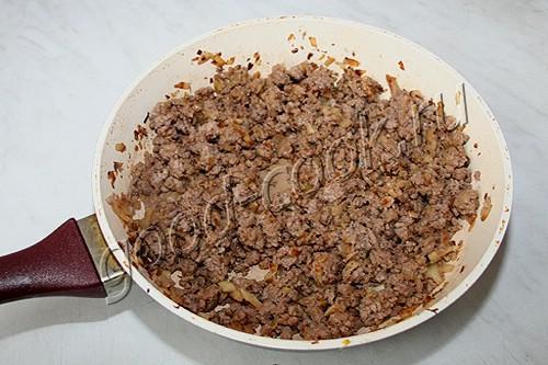 картофельная запеканка с жареным мясным фаршем