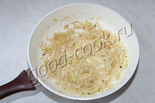 омлет с капустой
