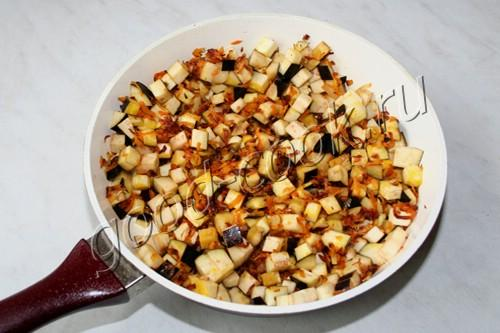баклажаны тушеные с фасолью