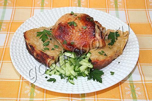курица запеченная на лаваше