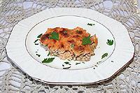 баклажаны запеченные в сметанно-томатном соусе