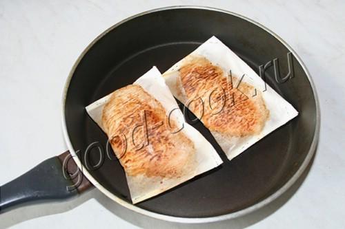 куриное филе, жаренное в пергаменте