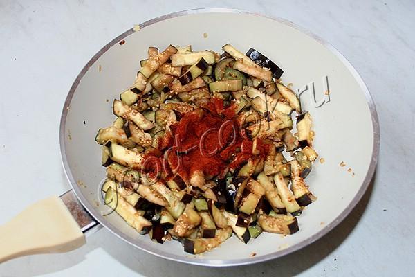 спагетти с баклажанами