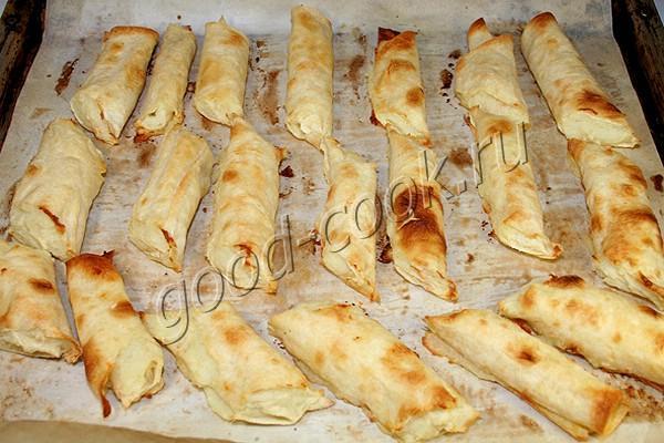 рулетики из лаваша с картофельным пюре