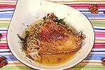 жареный цыплёнок в чесночно-ореховом соусе