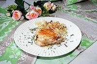 курица в молочном соусе с чесноком