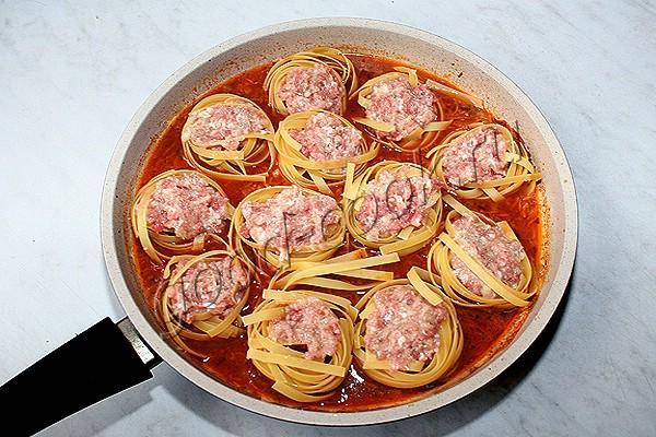 макароны с фаршем на сковороде рецепт с фото