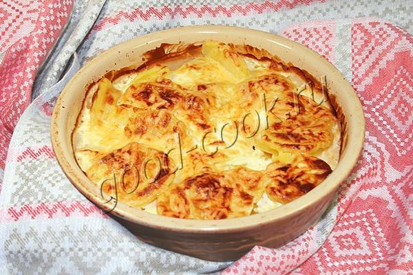 картофель, запеченный со сметаной и сыром