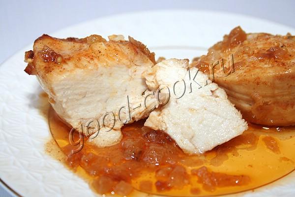 запеченная горчично-медовая курица