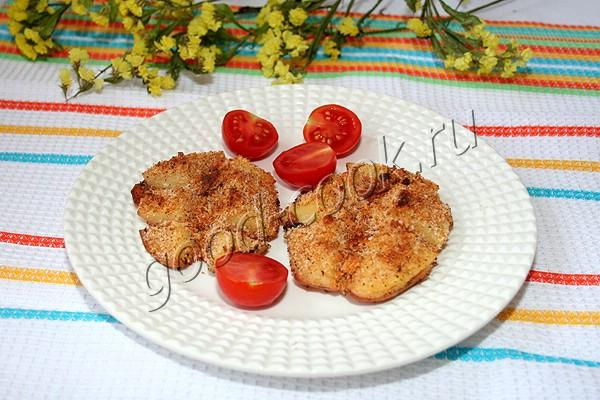 картофель запечённый под хрустящей корочкой