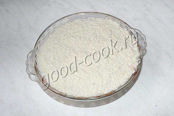куриная запеканка с сырным рисом
