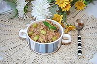 гречка с кабачками в сливочно-сырном соусе