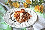 курица с рисом, запечённые в сметанном соусе