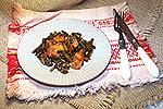 куриное филе со стручковой фасолью и терияки