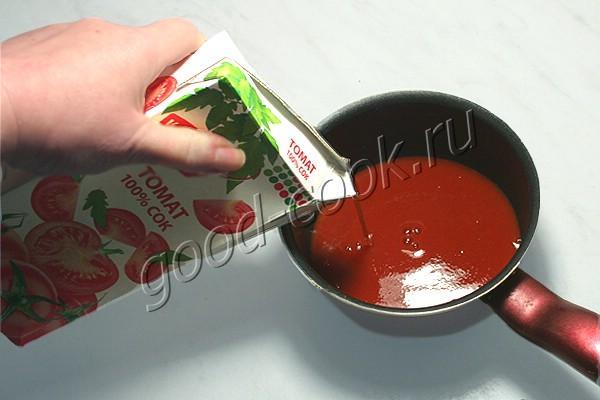 куриное филе томлёное в томатном соке
