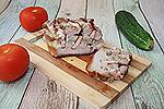 свиная грудинка, запечённая с копчёной курицей