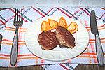 быстрые мясные оладьи