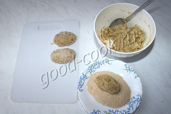 котлеты постные из картофеля и зелёного горошка