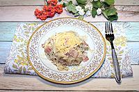 спагетти с беконом в сливочно-сырном соусе