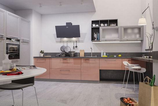 кухонный гарнитур в стиле хайтек