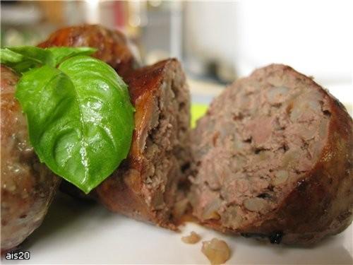 Печеночные гречаники Ингредиенты: - 500 г свиной печени - 2 стакана отваренной и подсоленной гречки - 2-3 репчатых лука - 400 г жировой се... - 8