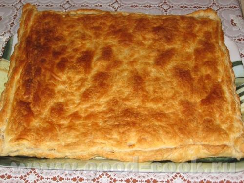 Как сделать пирог из бездрожжевого слоеного теста с