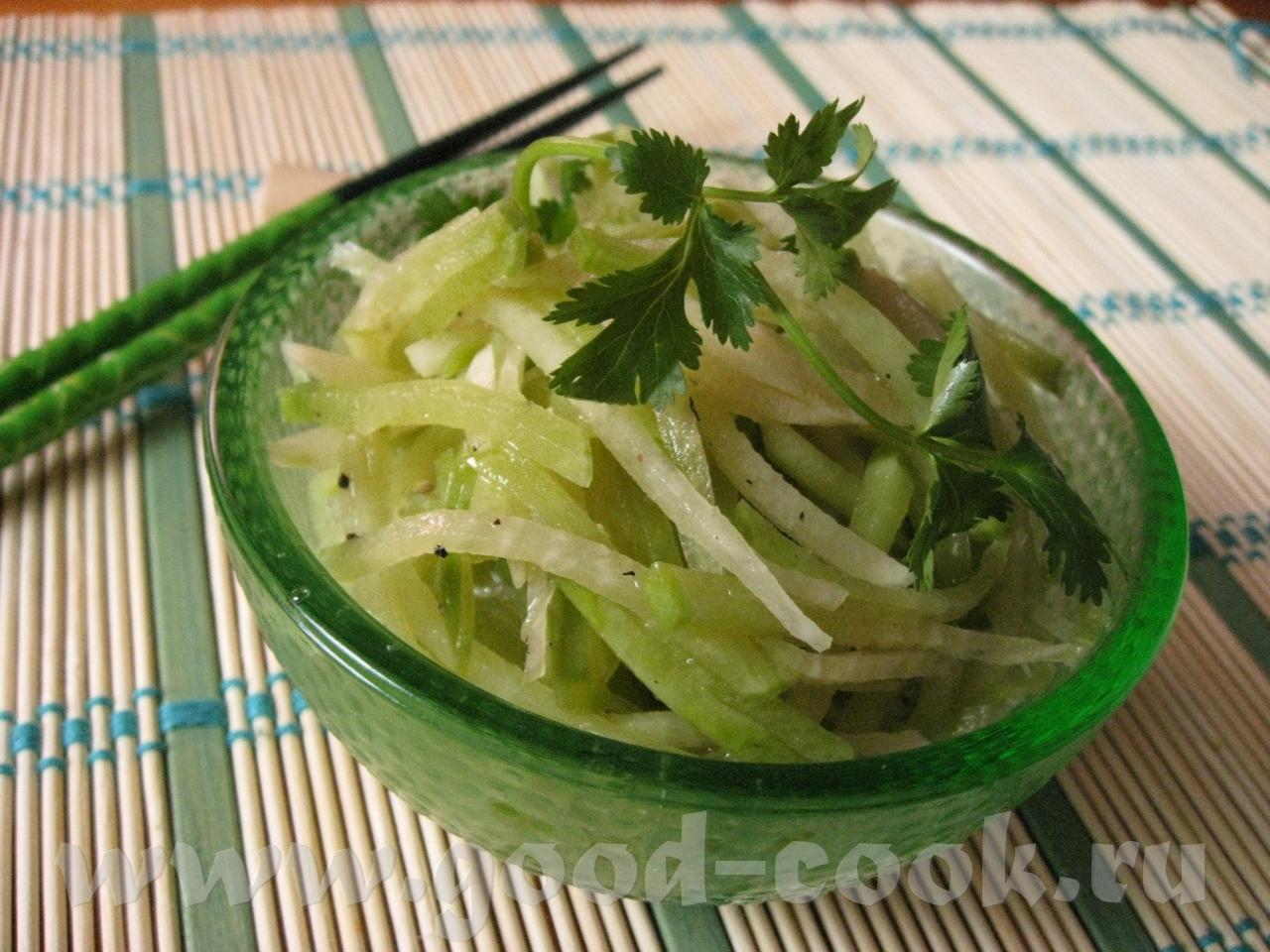Из зеленой редьки по-корейски