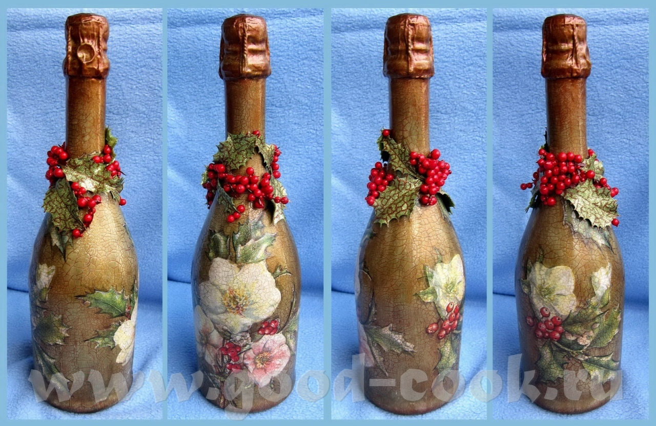 Декупаж пластиковых бутылок для начинающих пошагово