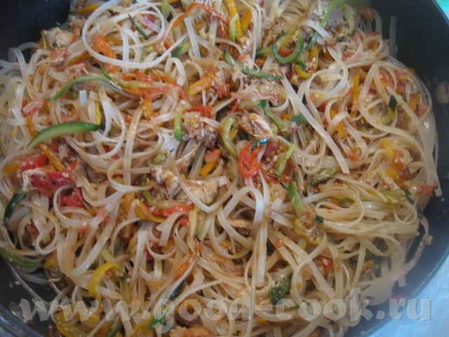 Рецепты с рисовой лапши с фото
