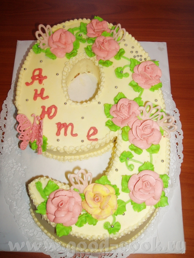 как украсить детский тортик на 9 лет девочке