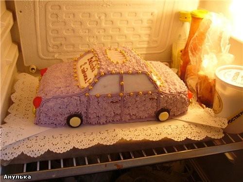 Торт машина своими руками с кремом