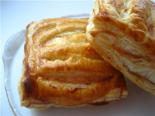 Открытые пироги из слоеного теста с яблоками рецепт