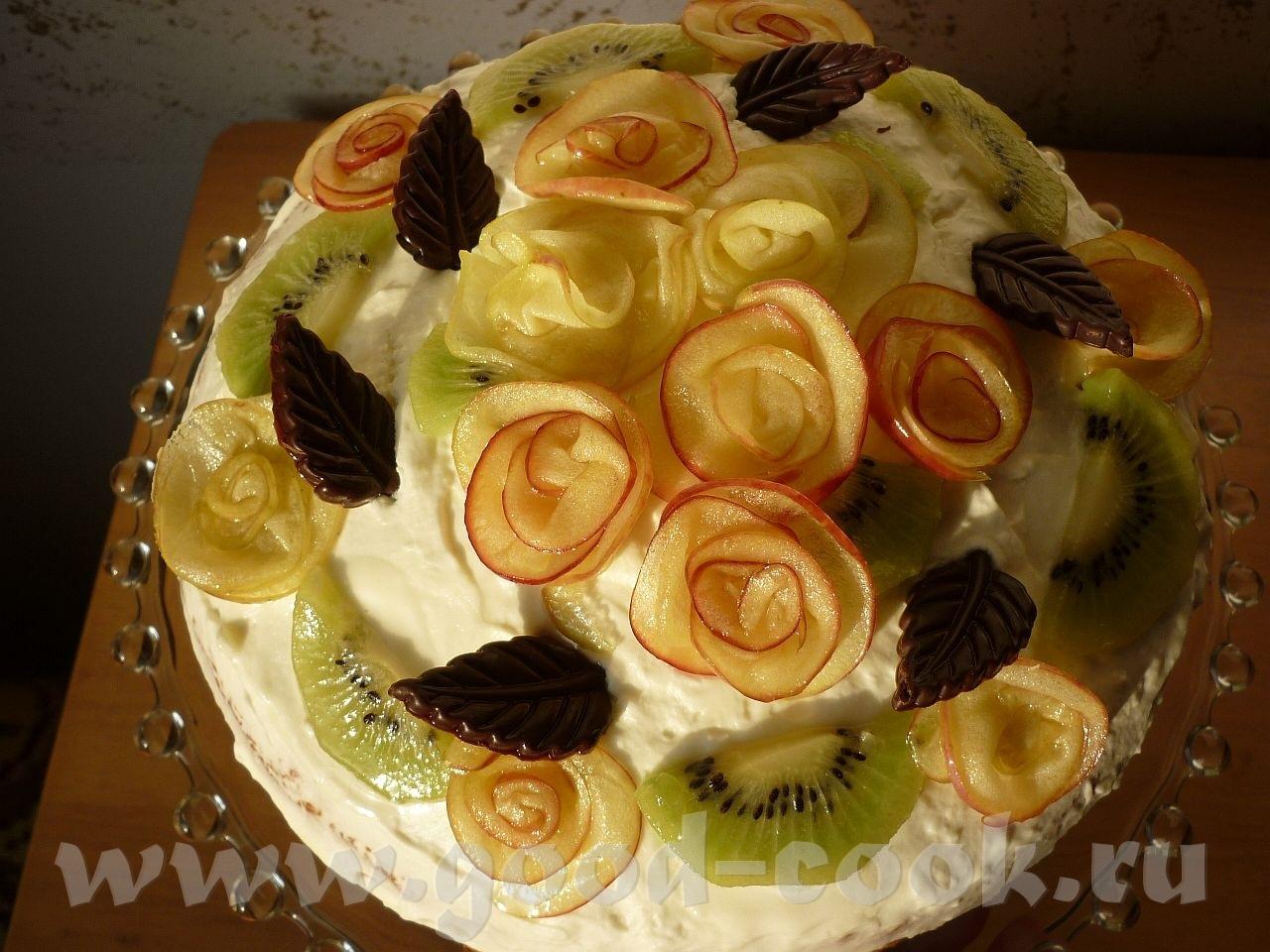 Чем украсить торт фруктами в домашних условиях фото пошагово