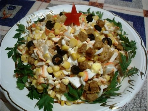 салат с кириешками фото рецепты
