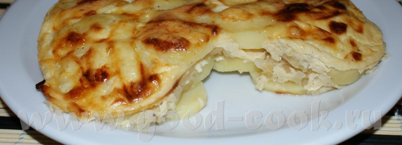 Картофельная запеканка без сыра с фото