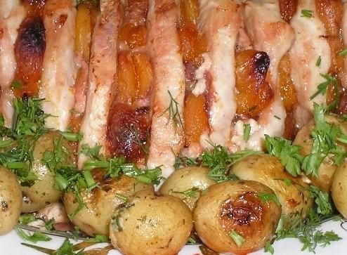 Рецепт свинина книжка в духовки