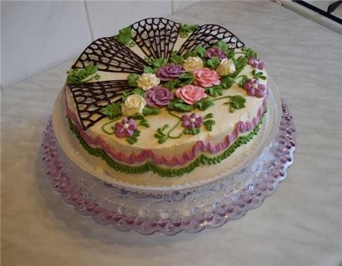 украшение тортов фото в