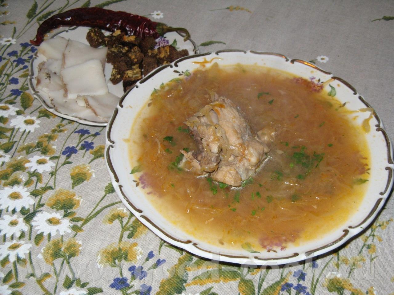 Борщ из капусты пошаговый рецепт