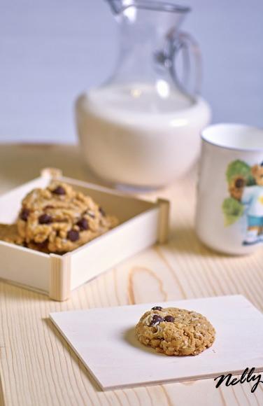 Печенье с кокосом и шоколадными чипсами