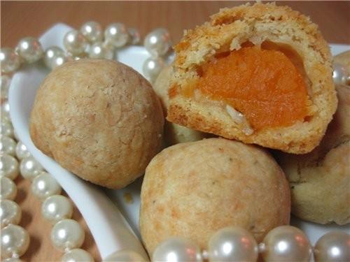 Хрустящие тыквенные шарики Ингредиенты: Тесто: - 120 г твердого сыра - 100 г размягченного сливочно...