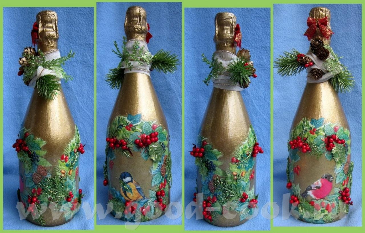 Подарок на новый год из бутылки своими руками