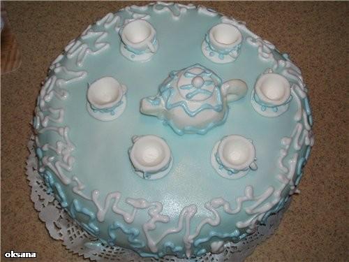 Как накрыть торт из мастики