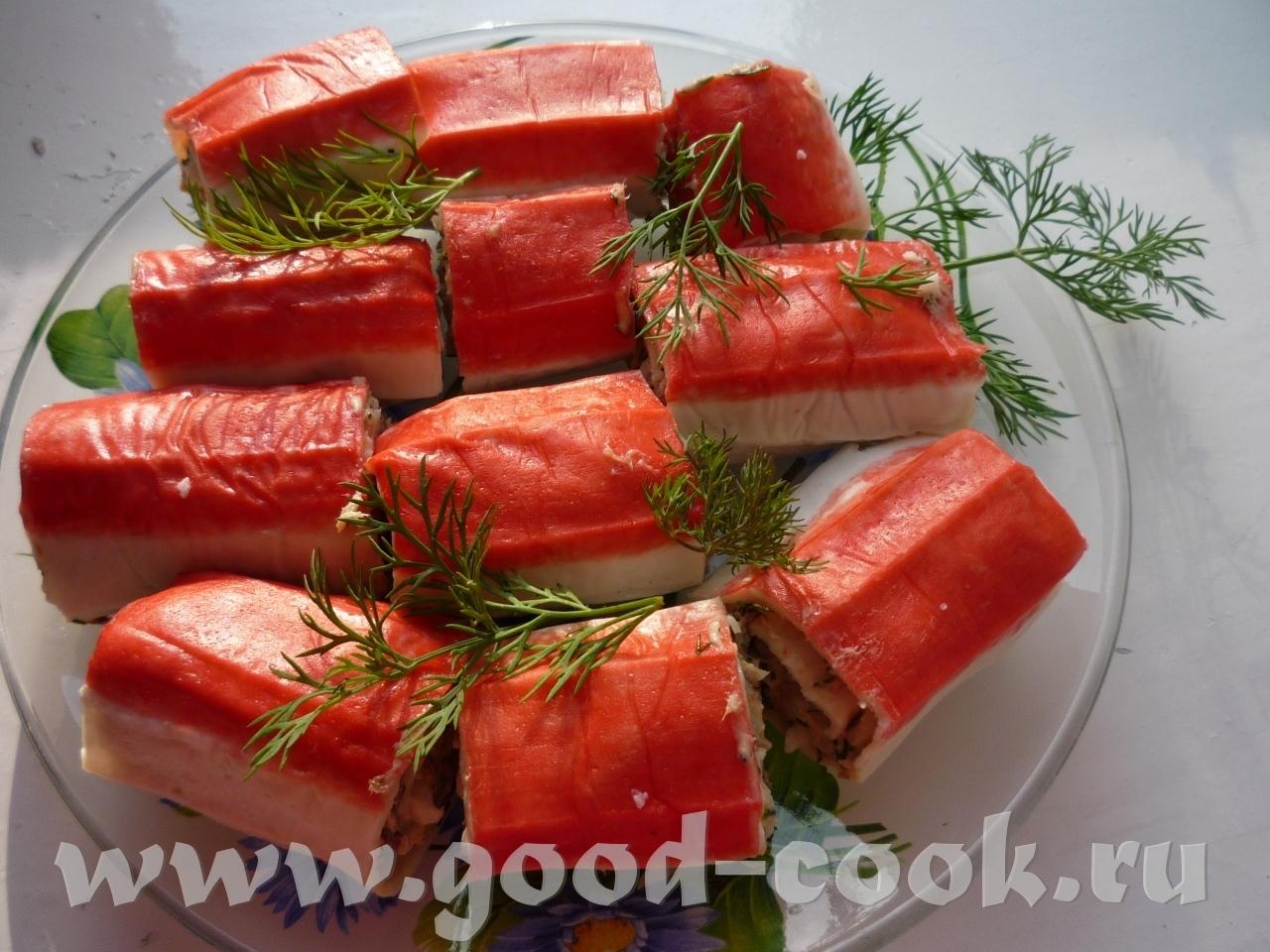 Крабовые палочки с сыром и чесноком рецепт пошагово
