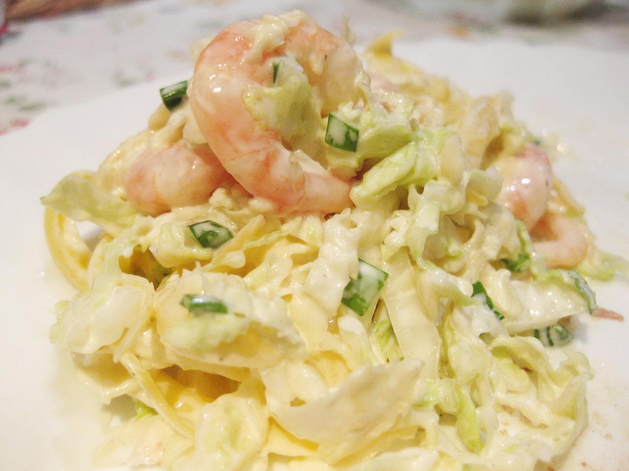 Салат из креветок и пекинской капусты рецепт 141