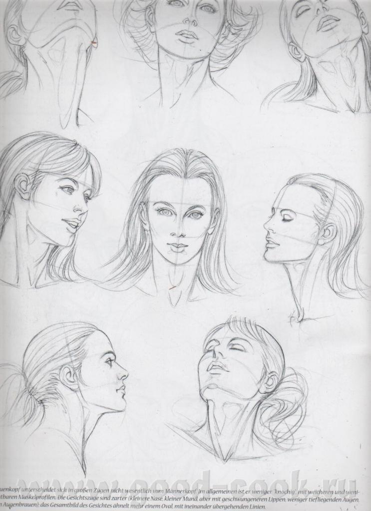 Уроки поэтапного рисования портрет ты карандашом