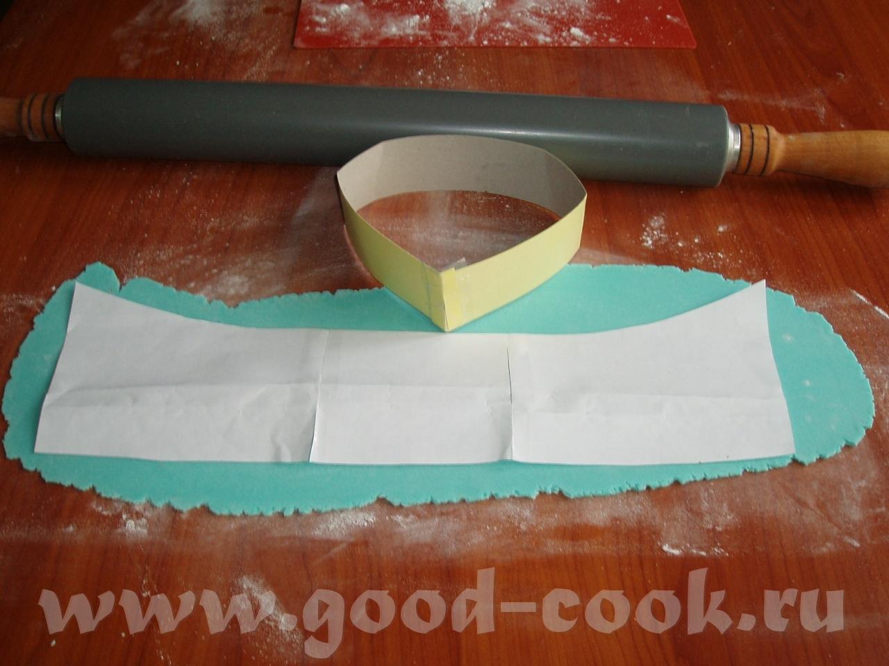 Как сделать воротник для халата из мастики