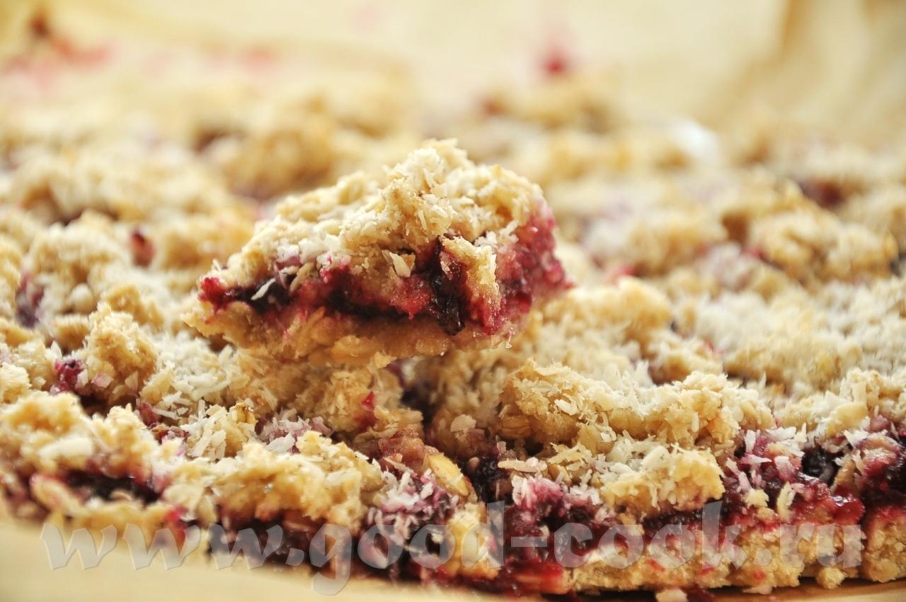 Овсяное печенье с вареньем рецепт