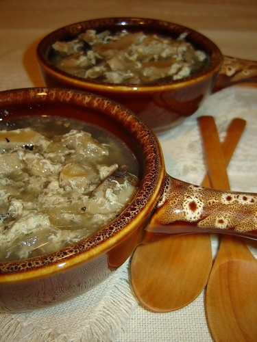 Суп из требухи 500 г говяжьего желудка (требуха, рубец) 2 л воды 2 большие луковицы 5 средних шампи...